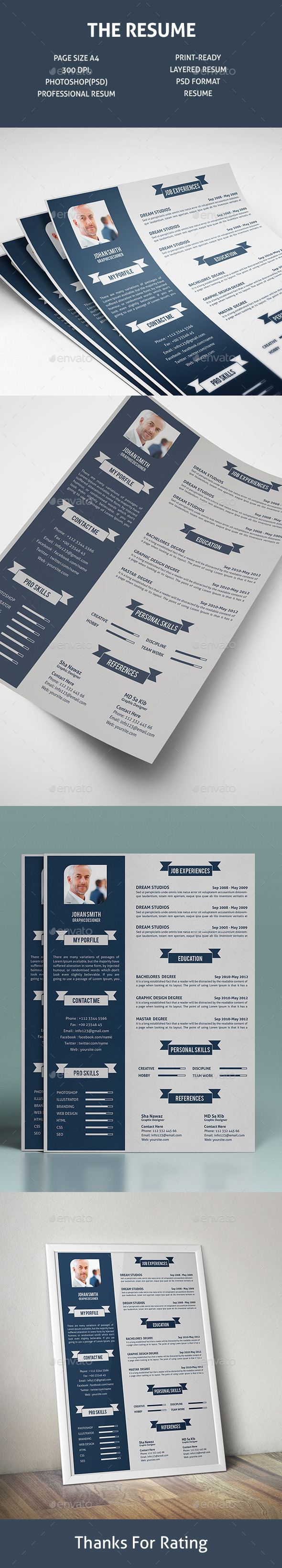 The Resume V-1 - Resumes Stationery