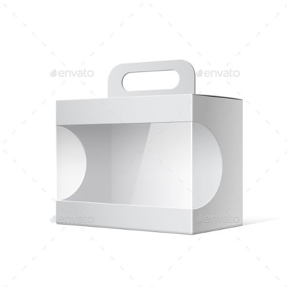 Package Cardboard Box with a Handle - Retail Commercial / Shopping