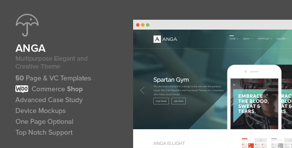 Anga – Multipurpose Elegant and Creative Theme