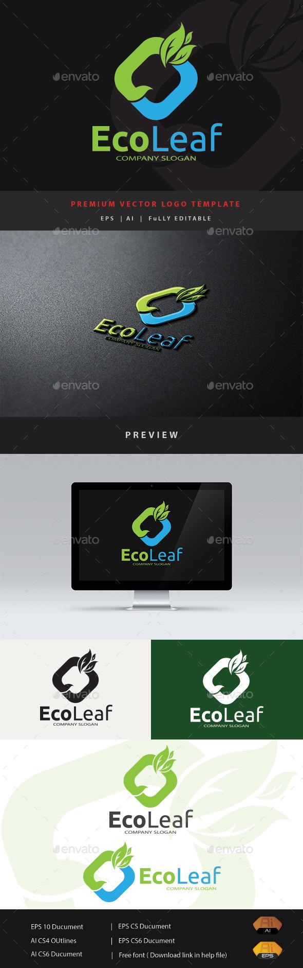 Eco Leaf - Nature Logo Templates