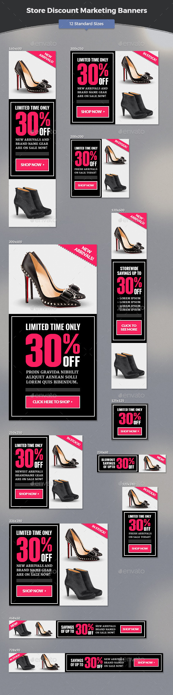 Store Discount Marketing Banners - Banners & Ads Web Elements