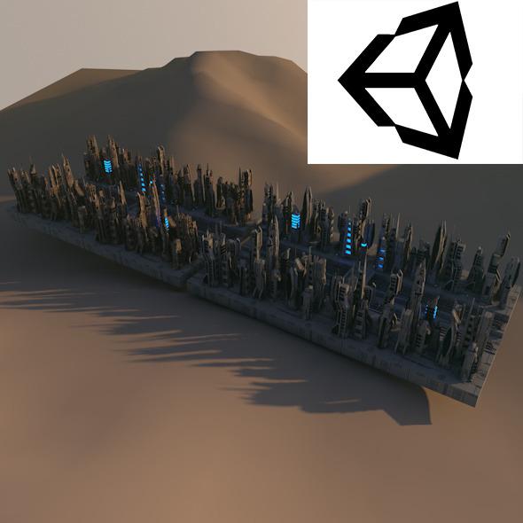 Sci-Fi City Cityscape - 3DOcean Item for Sale