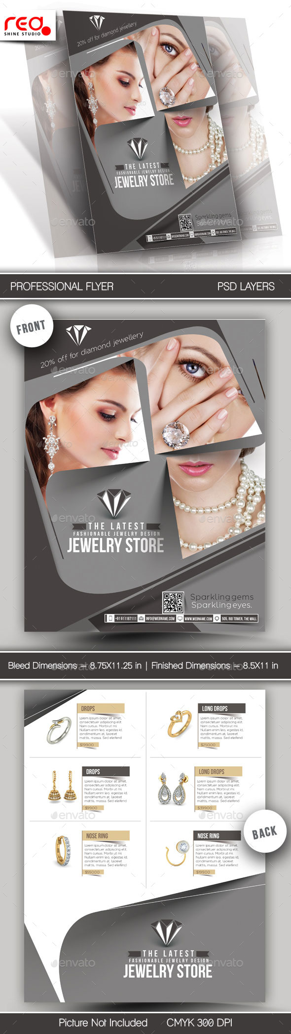 Jewelry Store Flyer & Poster Template -1 - Commerce Flyers
