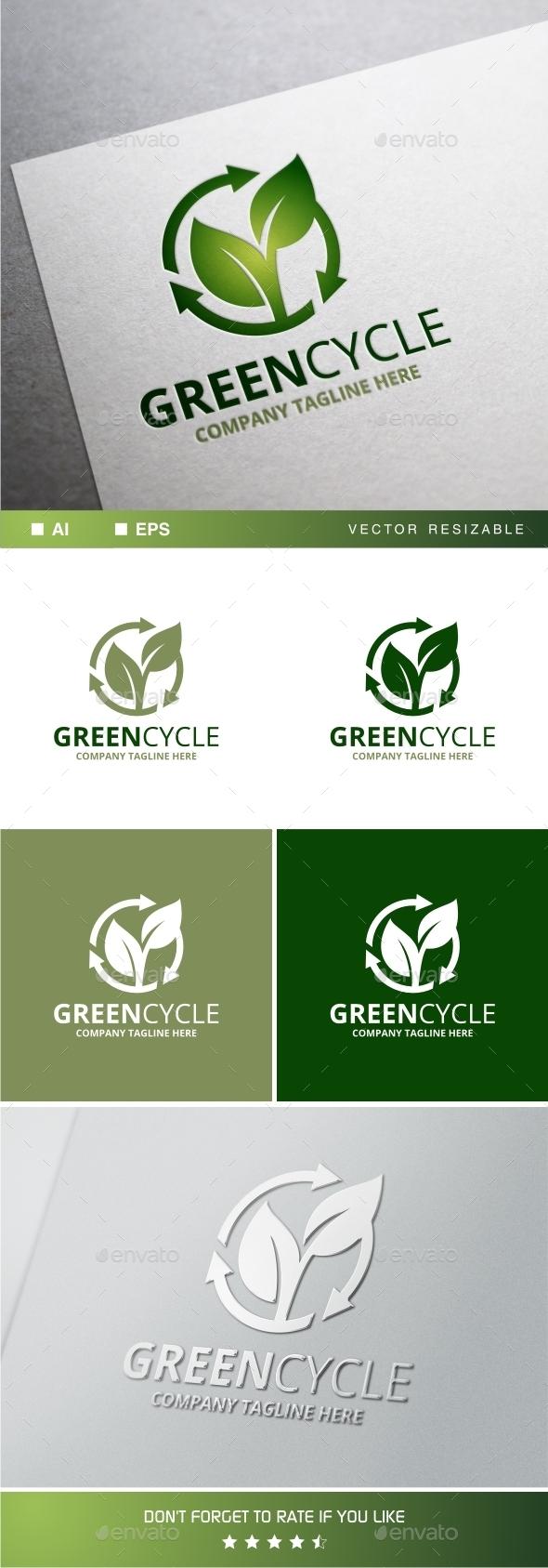 Greencycle Logo Template - Symbols Logo Templates