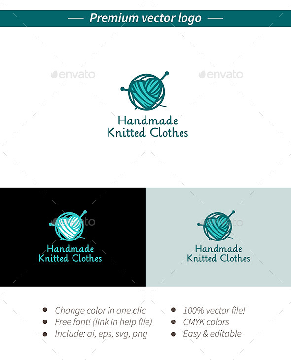 Handmade knitted logo - Objects Logo Templates