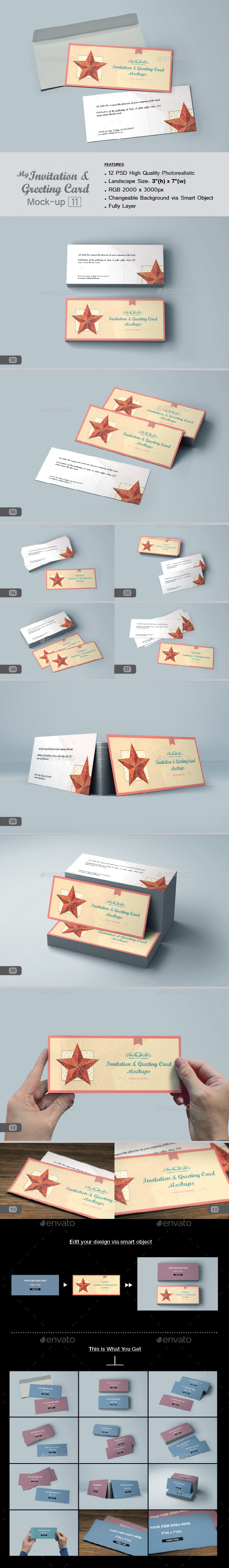myGreeting Card Mock-up v11 - Print Product Mock-Ups
