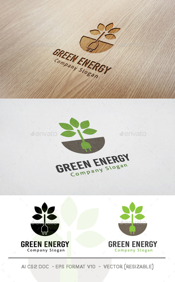 Green Energy Logo - Symbols Logo Templates