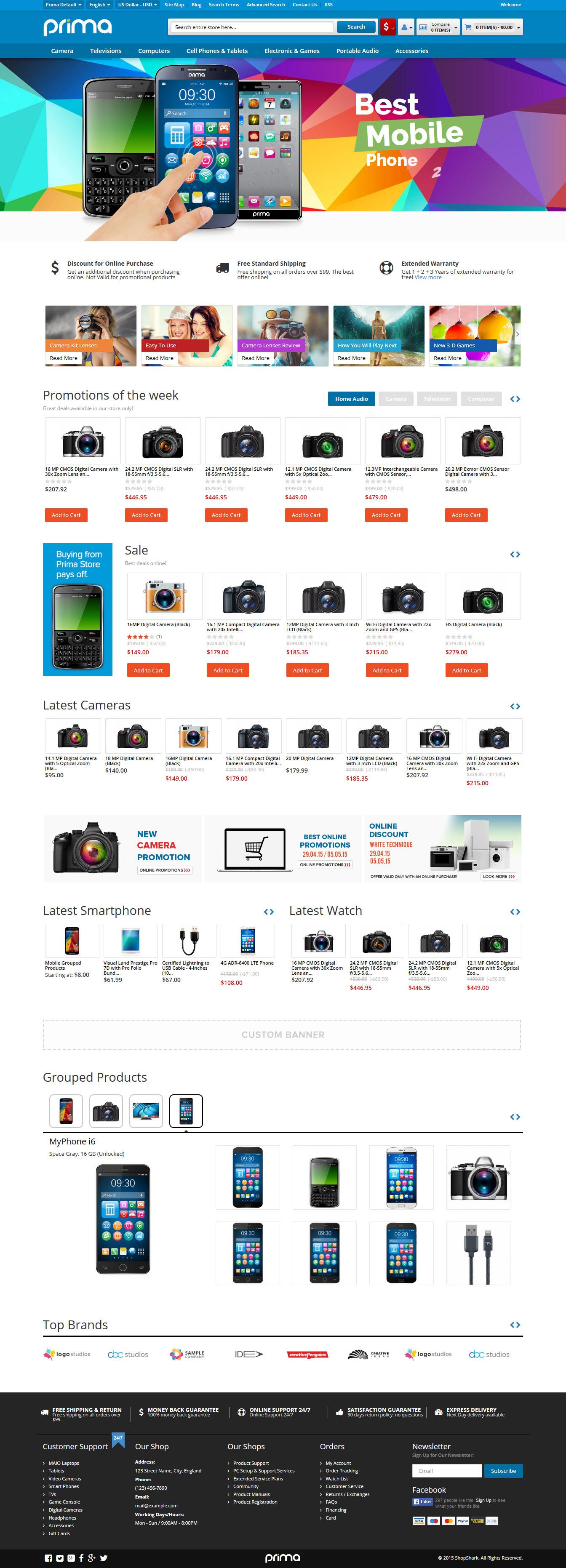 Prima - Responsive Magento Theme by ShopShark | ThemeForest