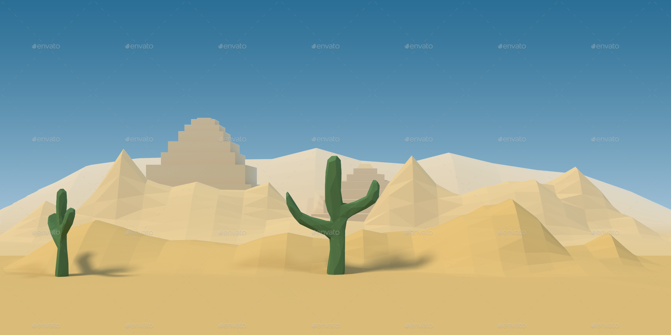 paperland desert game background by irissnebula