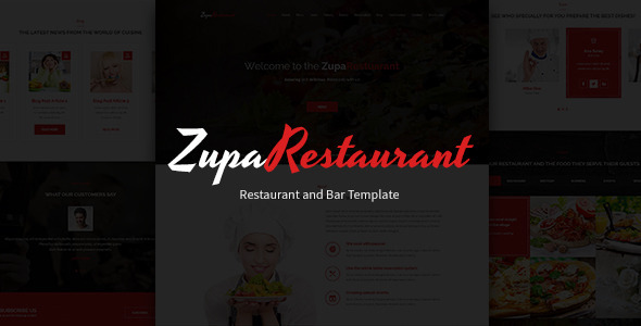 ZupaRestaurant PSD Template