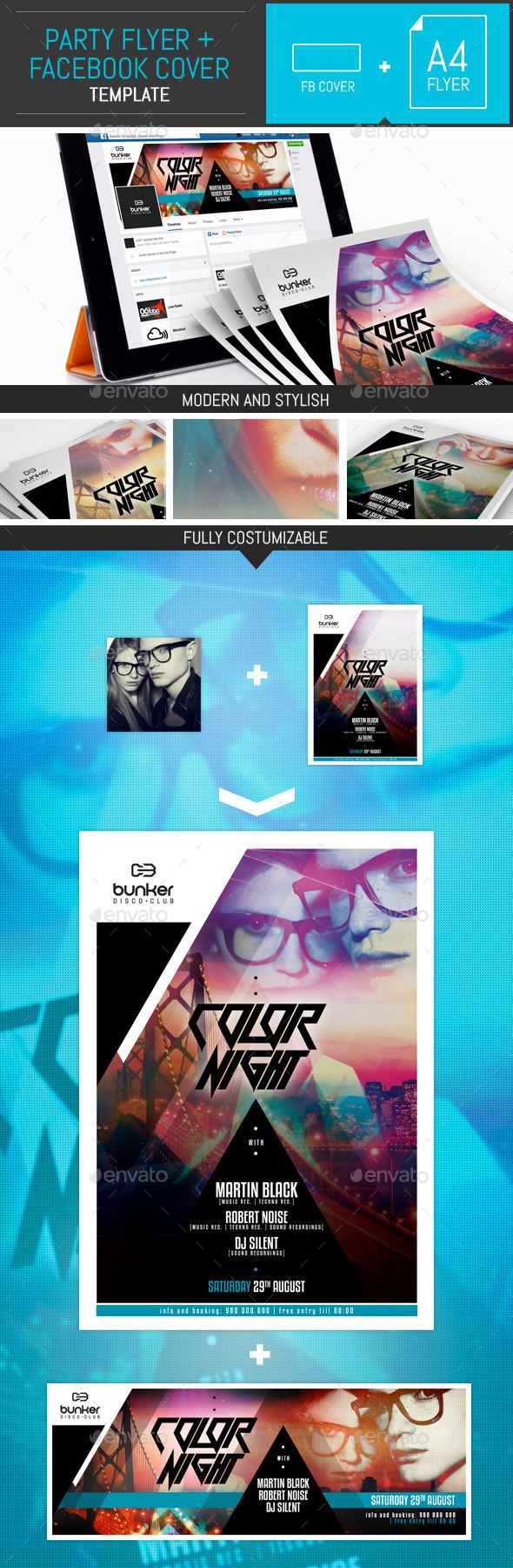 Dj Party Flyer/Poster Templates - Clubs & Parties Events