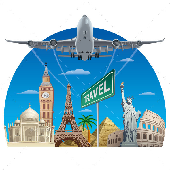 Air Travel  - Vectors