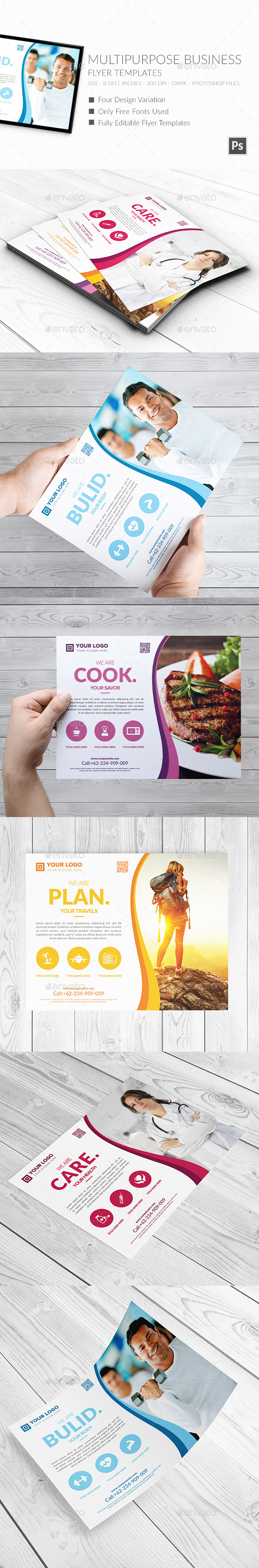 Multipurpose Business Flyers Templates 2 - Corporate Flyers