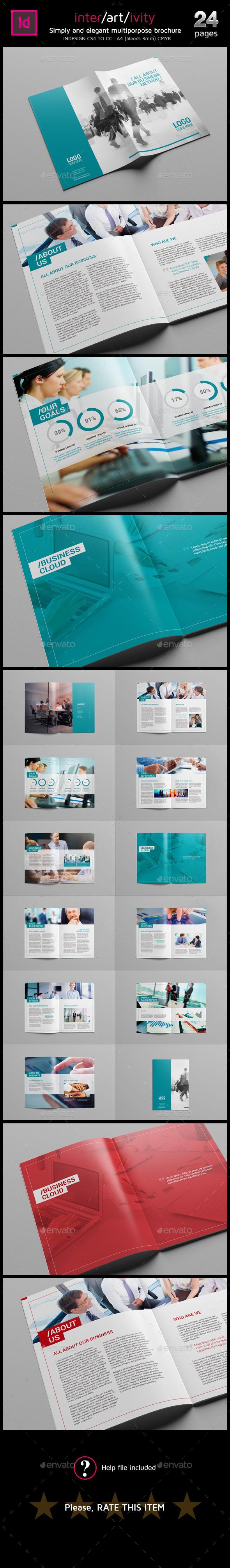 Clean A4 multipurpose brochure - Brochures Print Templates