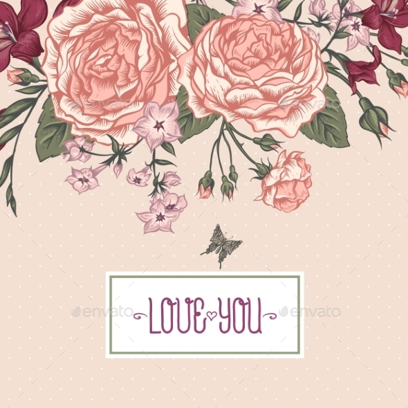 Beautiful Victorian Roses In Vintage Style - Patterns Decorative