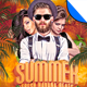 Summer DJ - Fresh Havana Beats Flyer Template - GraphicRiver Item for Sale