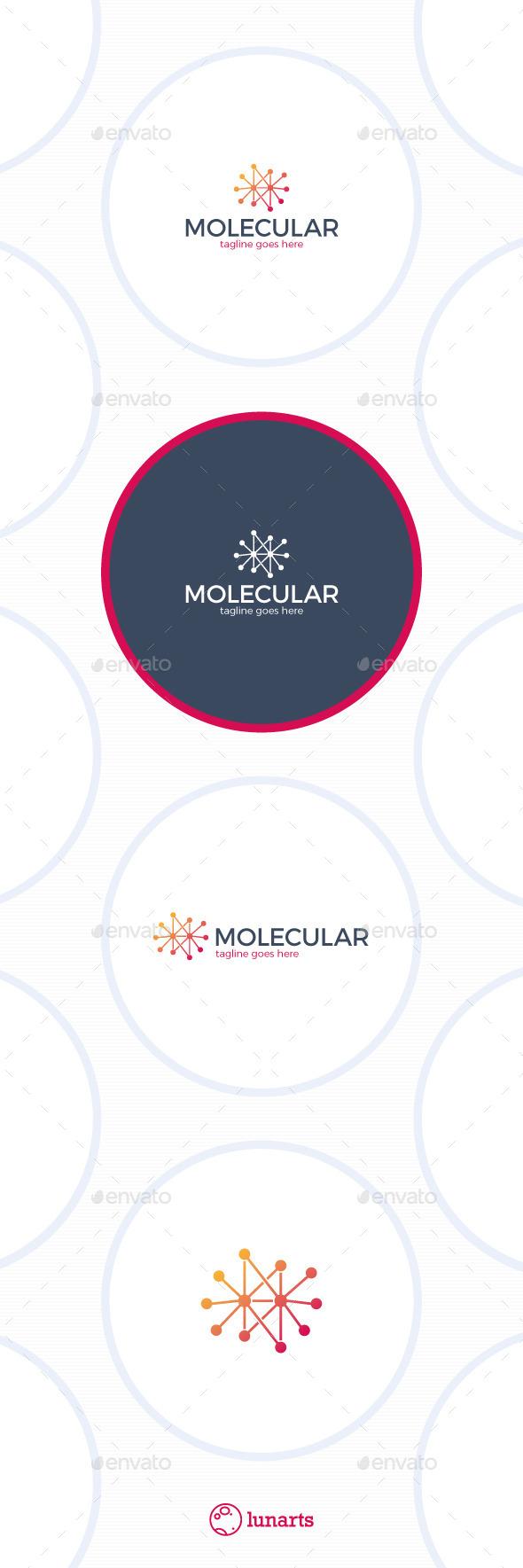 Molecular Logo - Chemistry - Symbols Logo Templates