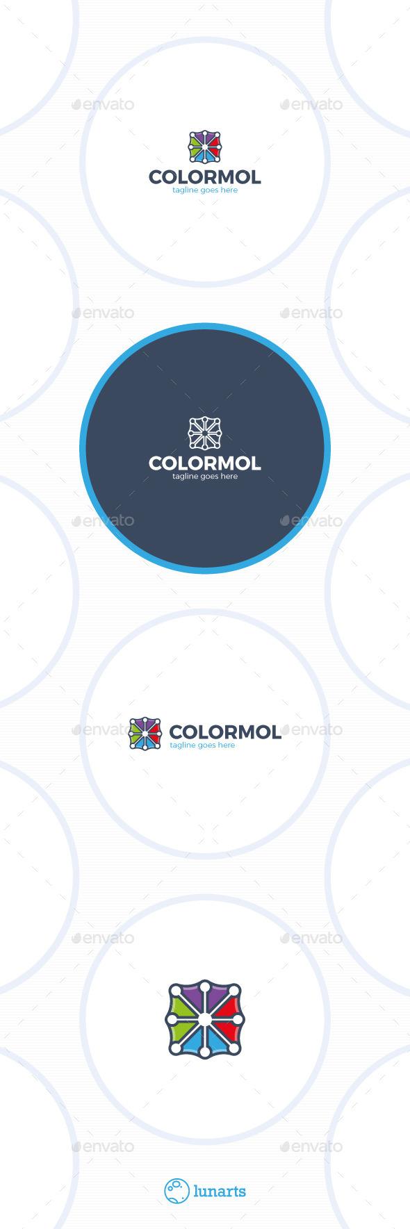 Color Molecule Logo - Symbols Logo Templates