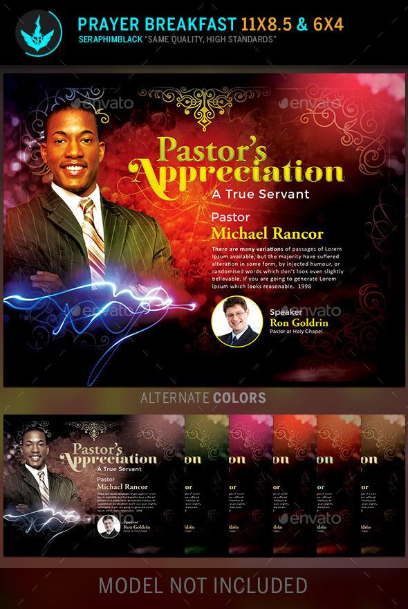pastor u0026 39 s appreciation church flyer template by
