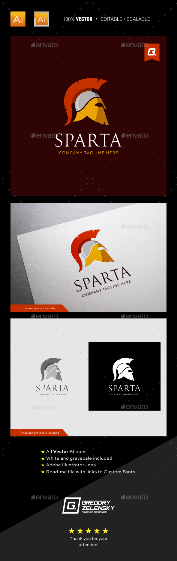 Sparta Logo Template - Humans Logo Templates