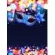 Blue Carnival Mask Vector Poster Background - GraphicRiver Item for Sale