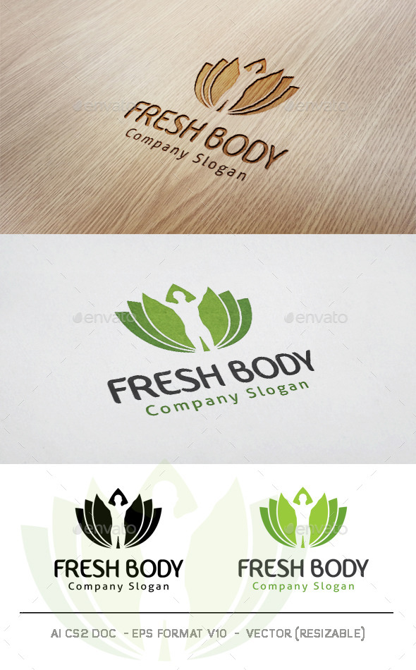 Fresh Body Logo - Humans Logo Templates