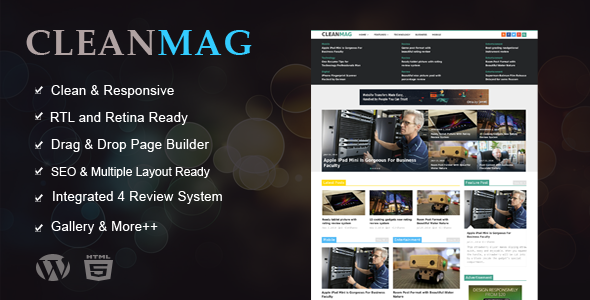 Cleanmag – Multipurpose Magazine WordPress Theme