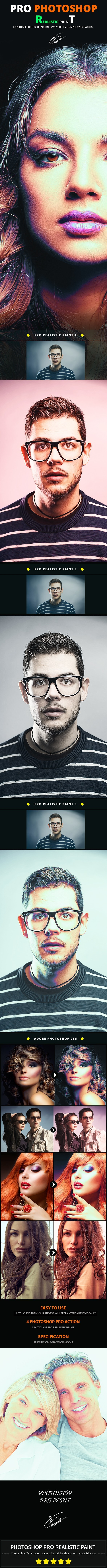Pro Realistic Paint - Photo Effects Actions