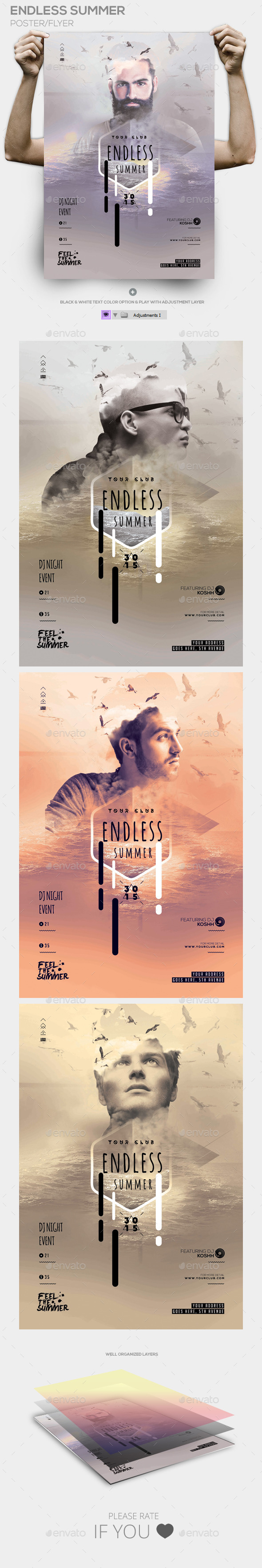 Endless Summer Poster PSD Template - Events Flyers