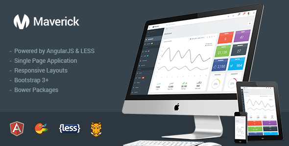 Maverick – Responsive Admin with AngularJS
