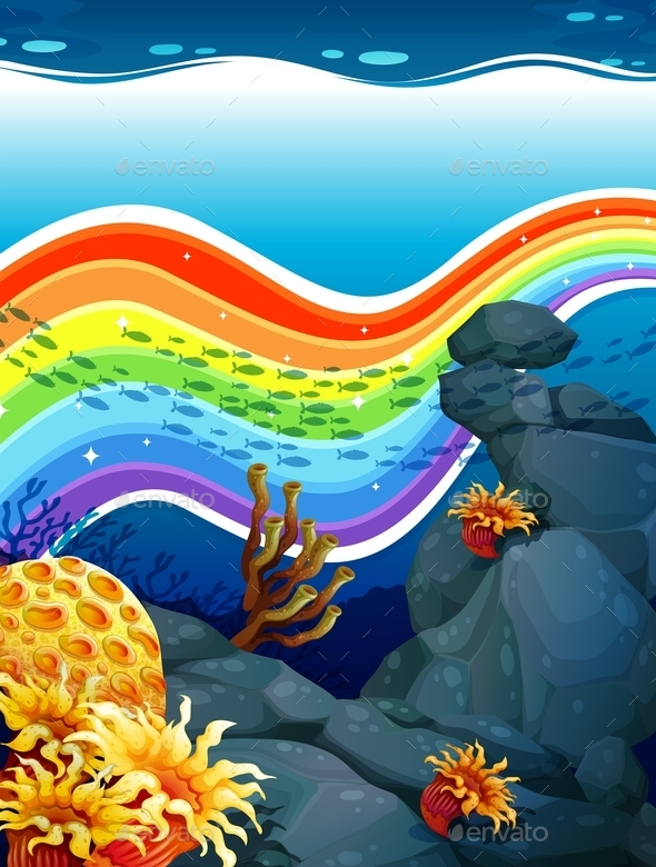Rainbow Underwater  - Miscellaneous Conceptual