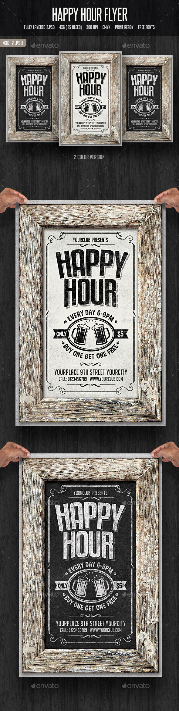 Happy Hour Flyer 2 - Clubs & Parties Events