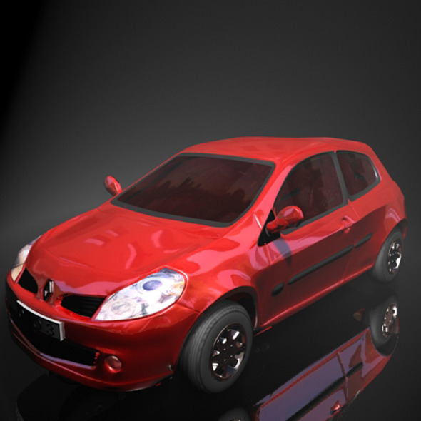 Renault Clio - 3DOcean Item for Sale