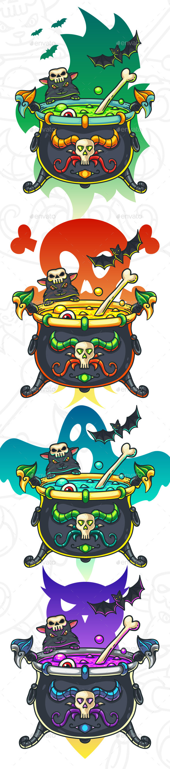 Halloween Cauldron Illustration - Halloween Seasons/Holidays