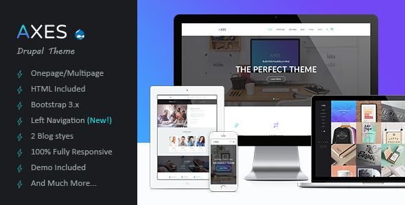 Axes | Multipurpose One/Multipage Drupal Theme - Portfolio Creative