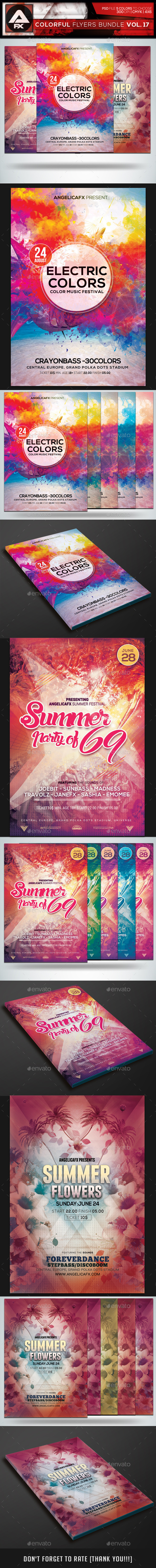 Colorful Flyers Bundle Vol.17 - Clubs & Parties Events