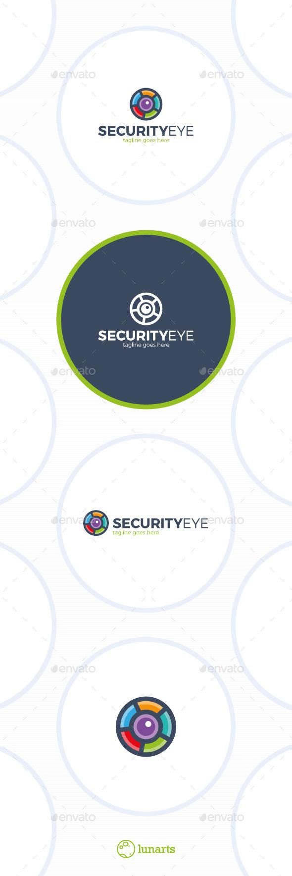 Color Security Eye Logo - Photo Circle - Symbols Logo Templates