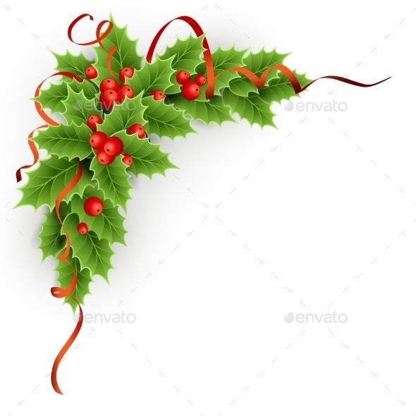 Christmas  Holly With Berries. - Christmas Seasons/Holidays