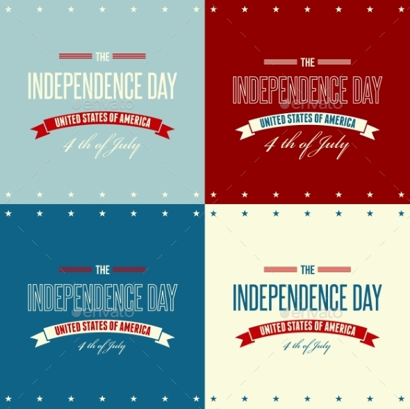 American Independence Day  Patriotic Background - Miscellaneous Vectors