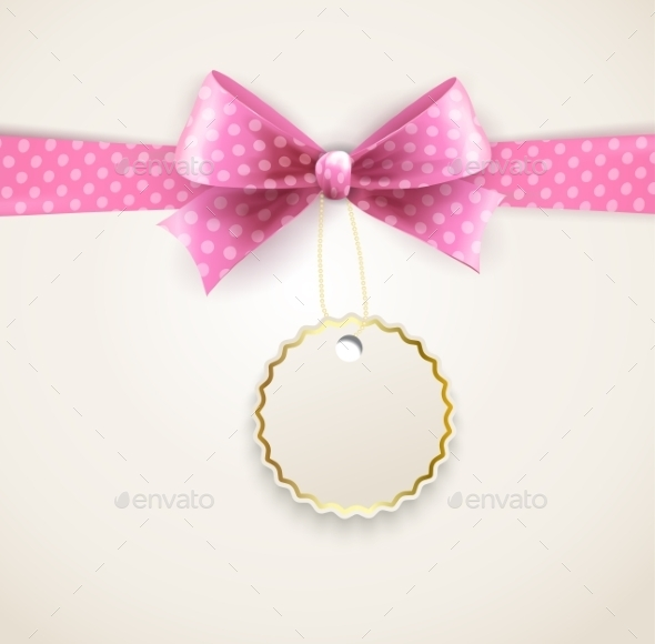 Polka Dots Bow for Greeting Card - Miscellaneous Vectors
