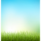 Grass Lawn with Sunrise on Blue Sky - GraphicRiver Item for Sale