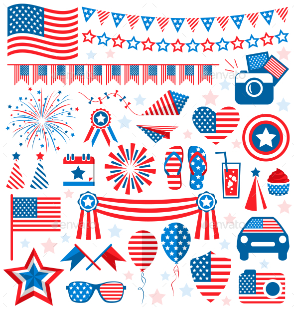 Independence Day Symbols - Miscellaneous Seasons/Holidays