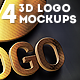 4 3d Logo Mockups - GraphicRiver Item for Sale