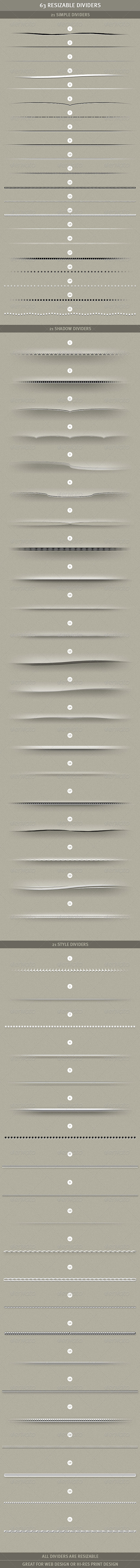 63 Resizable Dividers - Miscellaneous Web Elements