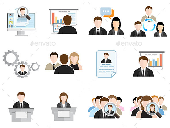 Business Flat Icons Set - Concepts Business