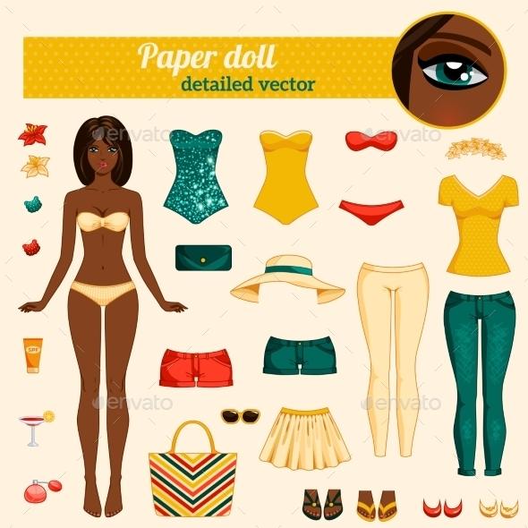 Dress Up Paper Doll - Miscellaneous Vectors