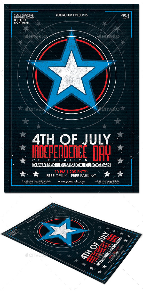 4th of July Flyer Poster - Events Flyers
