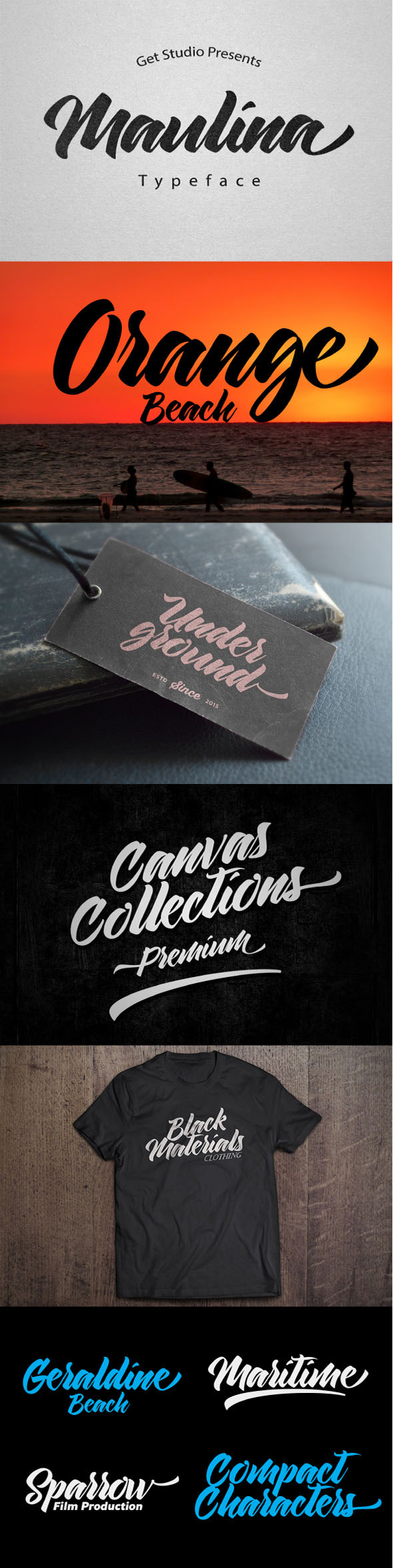 Maulina Typeface - Calligraphy Script