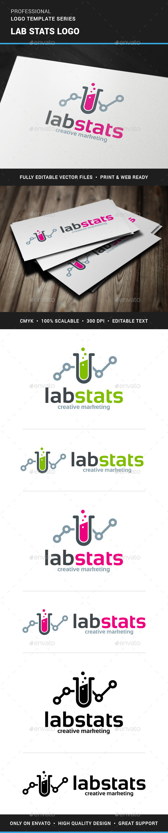 Lab Stats Logo Template - Objects Logo Templates