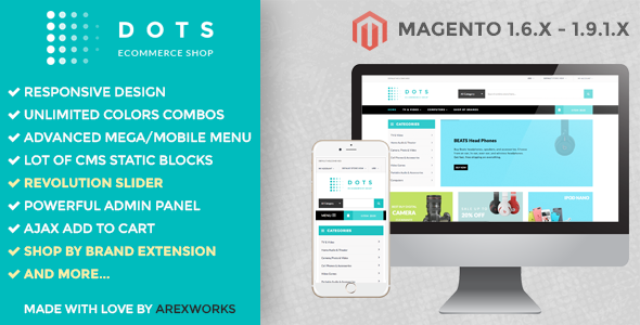ARW Dots - Responsive Magento Theme - Magento eCommerce